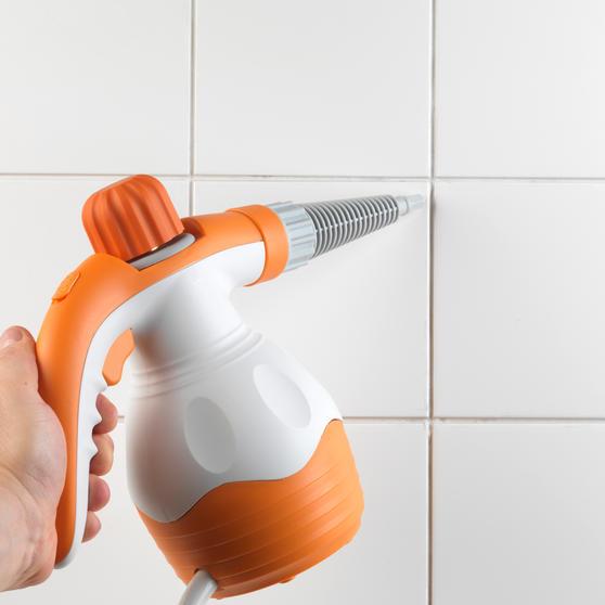 Beldray BEL0573FSFOB 10 in 1 Handheld Steam Cleaner, 1100 W, Orange/White Thumbnail 3