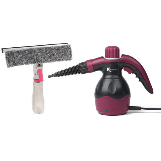Kleeneze 10-in-1 Handheld Steam Cleaner with Spray Window Cleaning Wiper