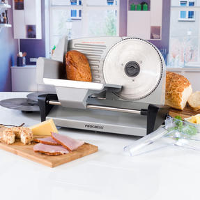 Progress COMBO-5663 Stainless Steel Electric Food Slicer with Three-Piece Paddle Chopping or Serving Boards, 150 W | Great For Roasted Meats, Cheese and Bread Thumbnail 2