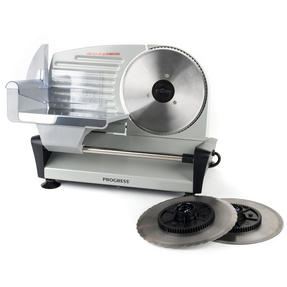 Progress COMBO-5663 Stainless Steel Electric Food Slicer with Three-Piece Paddle Chopping or Serving Boards, 150 W | Great For Roasted Meats, Cheese and Bread Thumbnail 4