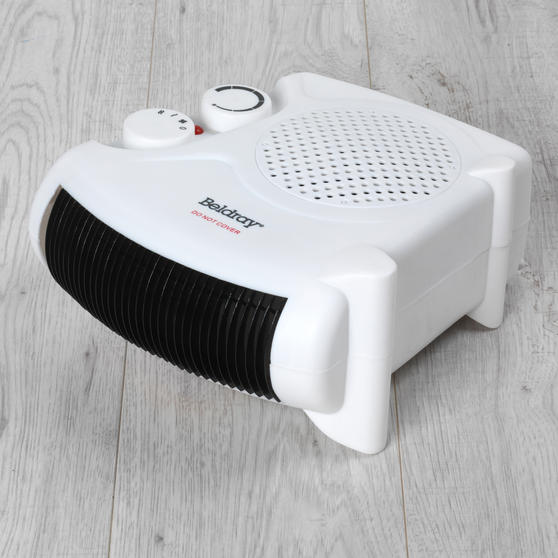 Beldray Flat Fan Heater, 1000/2000 W Settings, White, Set of 2 Thumbnail 3