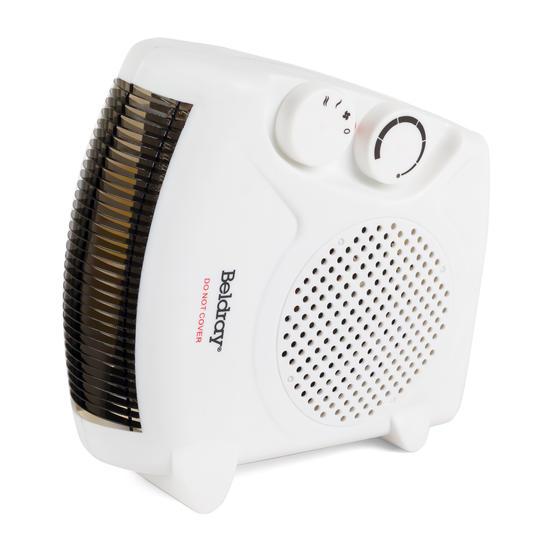 Beldray Flat Fan Heater, 1000/2000 W Settings, White, Set of 2 Thumbnail 8