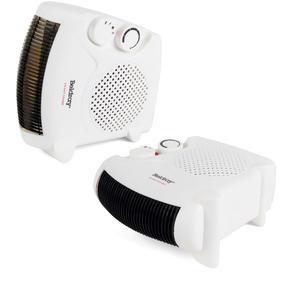 Beldray COMBO-5666 Flat Fan Heater, 1000/2000 W Settings, White, Set of 2