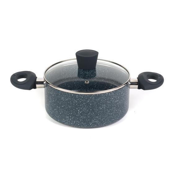 Russell Hobbs RH00848EU Blue Marble 20 cm Non-Stick Stockpot, Pressed Aluminium