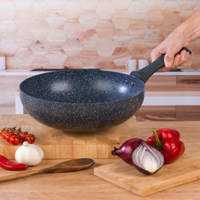 Russell Hobbs COMBO-4840A Blue Marble Non-Stick Frying Pan and Stir Fry Pan Set, 28 cm, 2 Piece Thumbnail 8