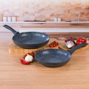Russell Hobbs COMBO-4841A Blue Marble Non-Stick Frying Pan Set, 24/28 cm, 2 Piece Thumbnail 7