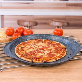 Russell Hobbs RH01003EU Nightfall Stone Pizza Pan, 37 cm, Blue Marble Thumbnail 2
