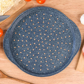 Russell Hobbs RH01003EU Nightfall Stone Pizza Pan, 37 cm, Blue Marble Thumbnail 4