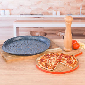 Russell Hobbs RH01003EU Nightfall Stone Pizza Pan, 37 cm, Blue Marble Thumbnail 6