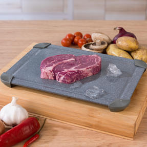 Salter COMBO-5820 Marblestone Non-Stick Quick Thaw Defrosting Tray, Aluminium, Grey, Set of 3 | No Electricity, Microwave or Hot Water Required Thumbnail 4