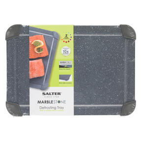 Salter COMBO-5820 Marblestone Non-Stick Quick Thaw Defrosting Tray, Aluminium, Grey, Set of 3 | No Electricity, Microwave or Hot Water Required Thumbnail 9