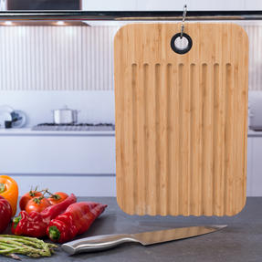 Sambonet COMBO-5867 Bamboo Dual-Use Chopping Board with Hanging Hook, 36 cm x 24 cm, Set of 6 Thumbnail 3