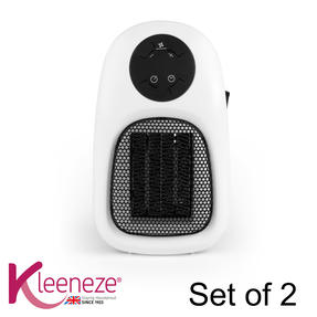 Kleeneze COMBO-5873 Handy Plug In Personal Space Heater, 500 W, Set of 2