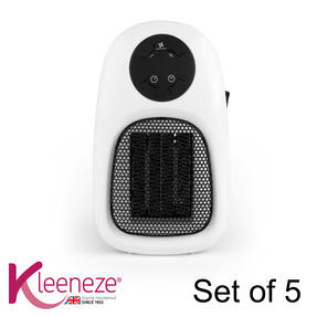 Kleeneze COMBO-5873 Handy Plug In Personal Space Heater, 500 W, Set of 5
