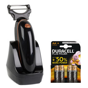 Power Peeler COMBO-5878 Rose Gold Electrical Orbital Vegetable Peeler with Multi-Functional Blades | Batteries Included