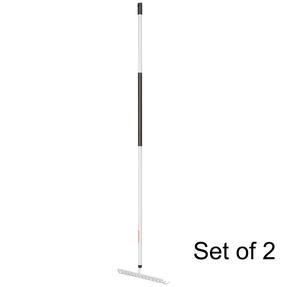 Fiskars COMBO-5830 Light Soil Rake with Hardened Steel Tines, Aluminium Handle, Black/White, Set Of 2 Thumbnail 1