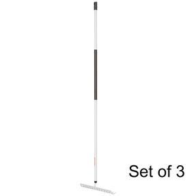 Fiskars COMBO-5831 Light Soil Rake with Hardened Steel Tines, Aluminium Handle, Black/White, Set Of 3 Thumbnail 1
