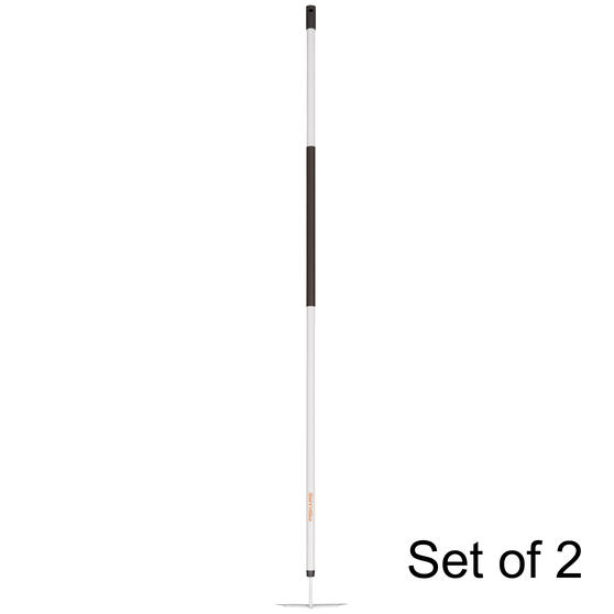 Fiskars COMBO-5833 Light Hoe with Steel Head and Aluminium Handle, Black/White, Set Of 2
