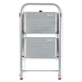 Kleeneze  2-Step Folding DIY Stepladder, 80cm, Pink/Grey, 180kg Capacity