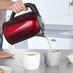 Prestige 46120 Pearlescent Cordless Kettle, 1.7 Litre, Red Thumbnail 2