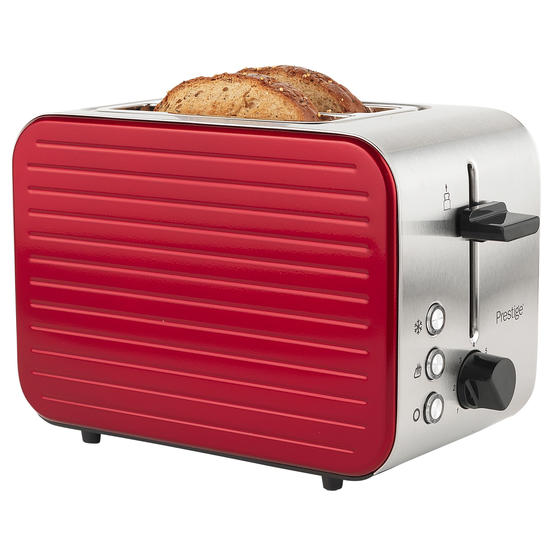Prestige 46121 Pearlescent 2-Slice Toaster with High Lift and Auto Pop-Up, Red