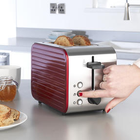 Prestige 46121 Pearlescent 2-Slice Toaster with High Lift and Auto Pop-Up, Red Thumbnail 3