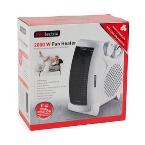 Prolectrix COMBO-5912 Portable Flat Fan Heater and Cooler, 2000 W, White, Set of 3 Thumbnail 9