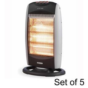 Prolectrix COMBO-5916 Halogen Heater, 1200 W, Grey, Set of 5