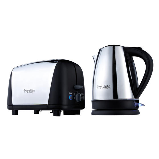 Prestige 53232 Cordless 1.7L Kettle and 2-Slice Toaster, Stainless Steel