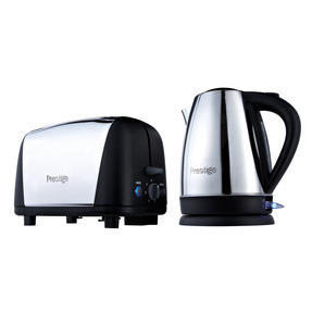 Prestige 53232 Cordless 1.7L Kettle and 2-Slice Toaster, Stainless Steel Thumbnail 1