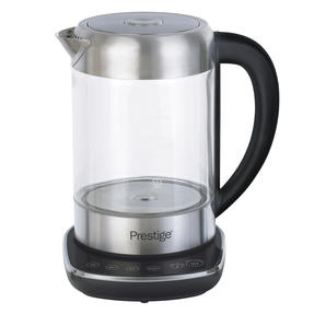 Prestige 59896 2 in 1 Glass Kettle with Digital Base, 3000 W, 1.7 Litre, Transparent Thumbnail 1