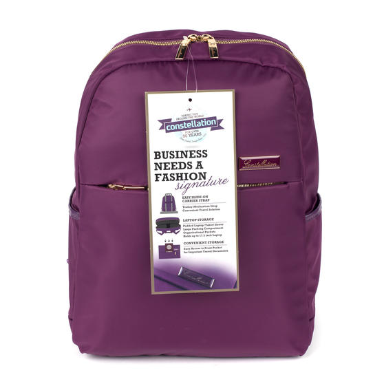 Constellation LG00608PURPLETEMIL The Signature Ladies Back Pack with Multiple Inner Storage Sections, Purple