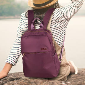 Constellation LG00608PURPLETEMIL The Signature Ladies Back Pack with Multiple Inner Storage Sections, Purple Thumbnail 10
