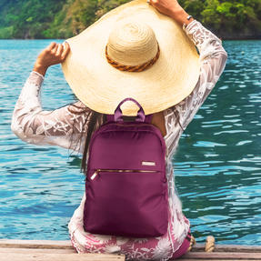 Constellation LG00608PURPLETEMIL The Signature Ladies Back Pack with Multiple Inner Storage Sections, Purple Thumbnail 11