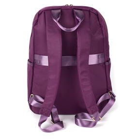 Constellation LG00608PURPLETEMIL The Signature Ladies Back Pack with Multiple Inner Storage Sections, Purple Thumbnail 4
