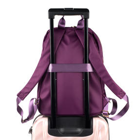 Constellation LG00608PURPLETEMIL The Signature Ladies Back Pack with Multiple Inner Storage Sections, Purple Thumbnail 7