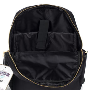 Constellation Signature Ladies Back Pack with Multiple Inner Storage Sections, Black Thumbnail 2