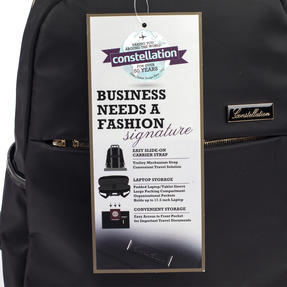 Constellation LG00608BLACKTEMIL Signature Ladies Back Pack with Multiple Inner Storage Sections, Black Thumbnail 6