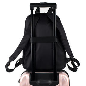 Constellation LG00608BLACKTEMIL Signature Ladies Back Pack with Multiple Inner Storage Sections, Black Thumbnail 9
