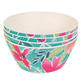 Cambridge CM06892 Eco Friendly Bamboo Dinnerware Bowls, Set of 4, Evie Print Thumbnail 5