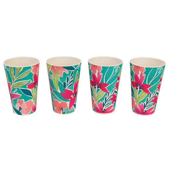 Cambridge CM06897 Reusable BPA Free Dinnerware Cups, Set of 4, Evie