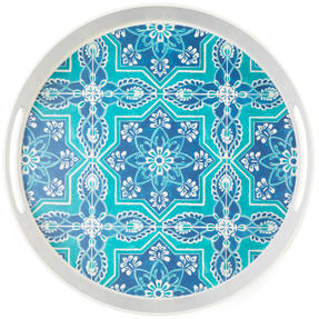 Cambridge CM06998 St Tropez Round Reusable Tray with Handles, 30 cm | Perfect for Serving Drinks at Parties