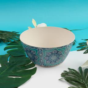 Cambridge CM07000 Reusable BPA Free Dinnerware Large Serving Bowl, St Tropez Thumbnail 2