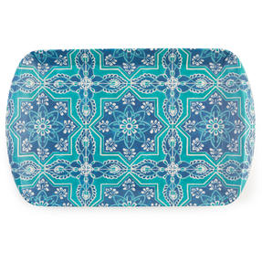 Cambridge CM07002 St Tropez Large Reusable Rectangular Tray, 40 cm | Perfect for Serving Drinks at Parties