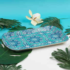 Cambridge CM07002 St Tropez Large Reusable Rectangular Tray, 40 cm | Perfect for Serving Drinks at Parties Thumbnail 4