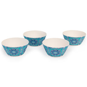 Cambridge CM07004 Reusable BPA Free Dinnerware Bowls, Set of 4, St Tropez  Thumbnail 3