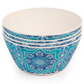 Cambridge CM07004 Reusable BPA Free Dinnerware Bowls, Set of 4, St Tropez  Thumbnail 5