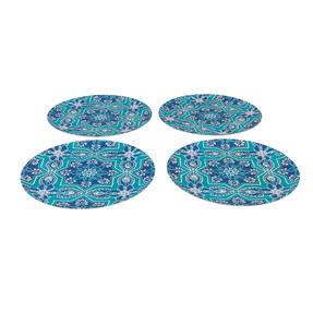 Cambridge CM07005 Reusable BPA Free Dinnerware 25 cm Plates, Set of 4, St Tropez Thumbnail 3