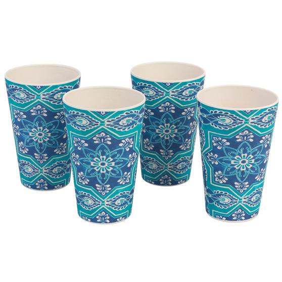 Cambridge CM07009 Reusable BPA Free Dinnerware Cups, Set of 4, St Tropez