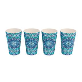 Cambridge CM07009 Reusable BPA Free Dinnerware Cups, Set of 4, St Tropez  Thumbnail 3